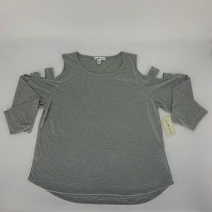 NWT Eye Candy Cold Shoulder Top